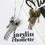 3276 - Vintage owl necklace