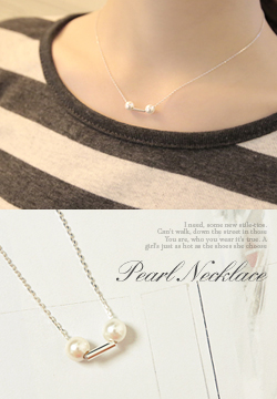 20789 - Pearl Silver Necklace
