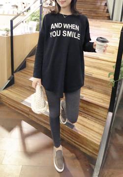21 606 - Smile Long tee