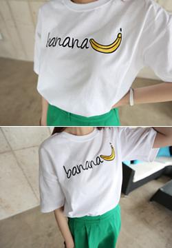 22 913 - Banana embroidered T