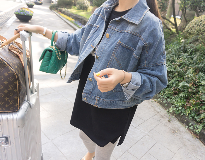 28876 - Back button Denim Jacket