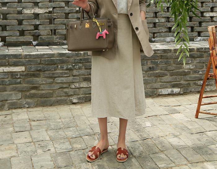 29013 - Linen Wrap Skirt