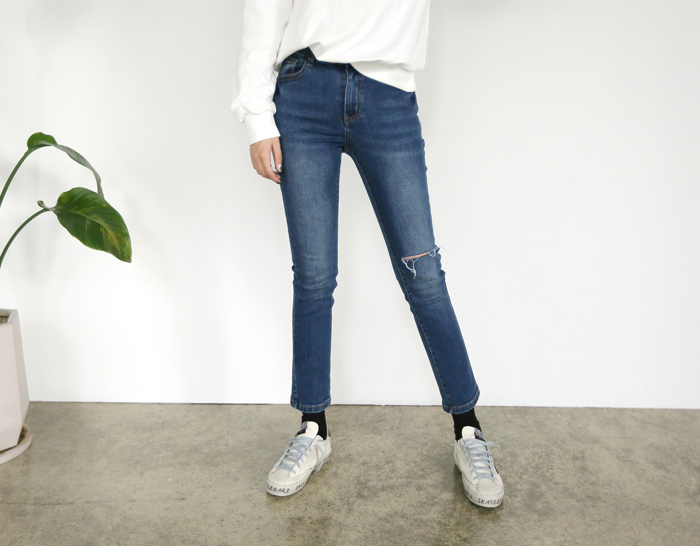 29583 - [SS.made] [Banding in] Mochi Hip-up denim pants