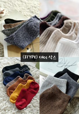 30053 - (3type) Day Socks (22color)