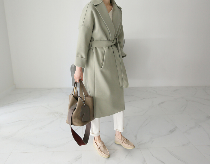 30160 - Soft Belt Coat (2color)
