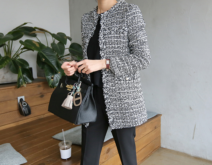 30228 - [Special Offer] pearl Tweed Jacket (3color)