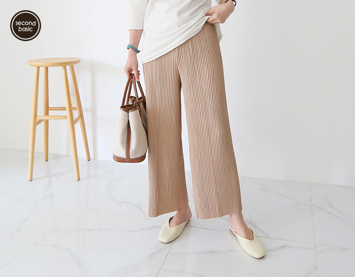 30327 - [SECOND BASIC] Wrinkles Pleats Pants (1 + 1)