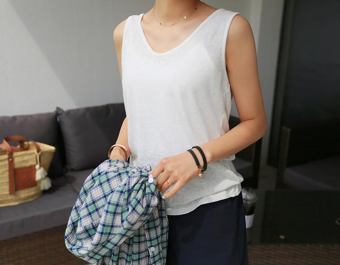 30459 - Sleeveless shirts (5color)