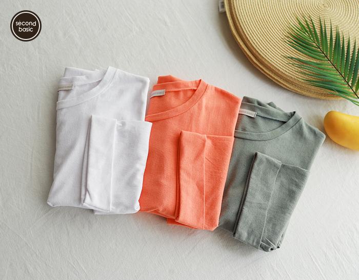 30534 - [SECOND BASIC] Rollup 7 pcs T-shirt (3color)