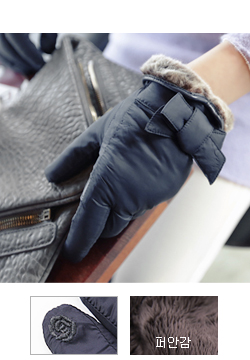 21677 - bowknot Padding gloves