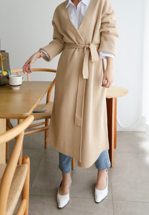 31141 - Long Long Knit coat (2color)