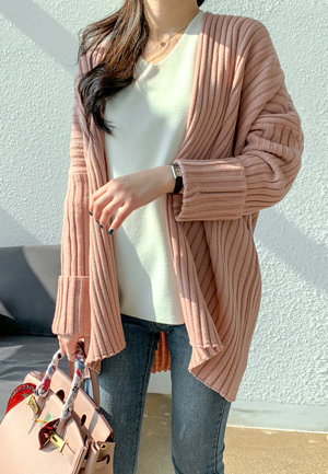 31172 - Rollup Shawl Cardigan (4color)